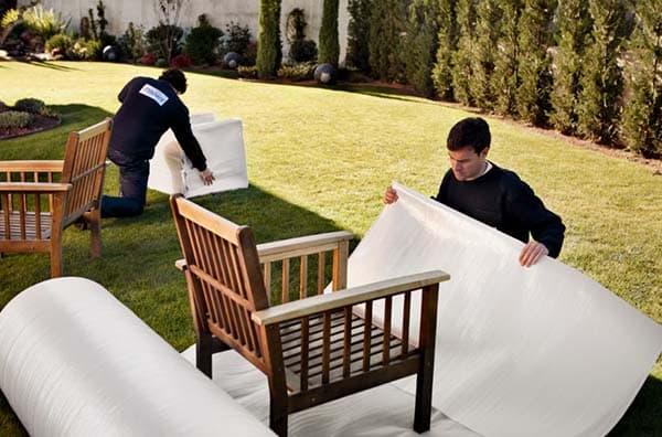 Embalaje de muebles de jardin