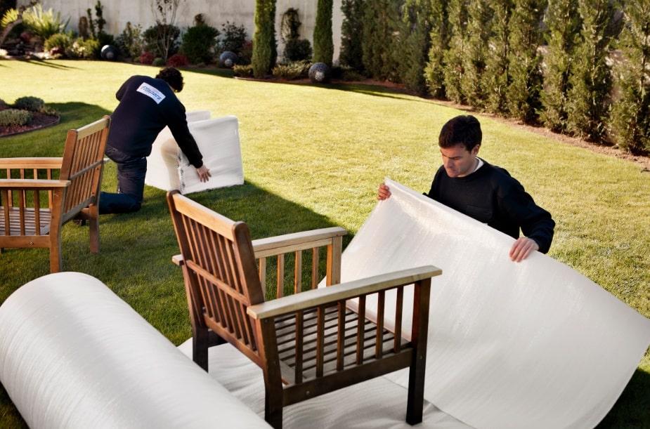 embalaje de muebles del jardin