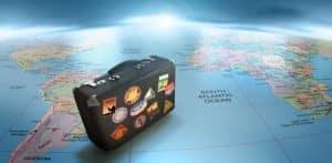 Expatriados españoles Maleta mapa